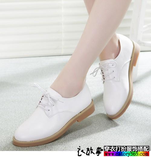 英伦风平底单鞋