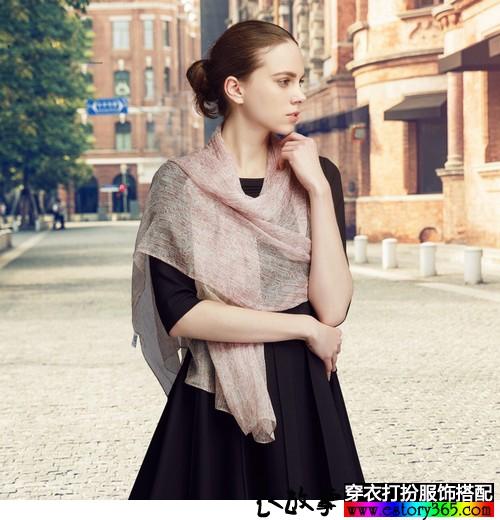 纯色长方形丝巾
