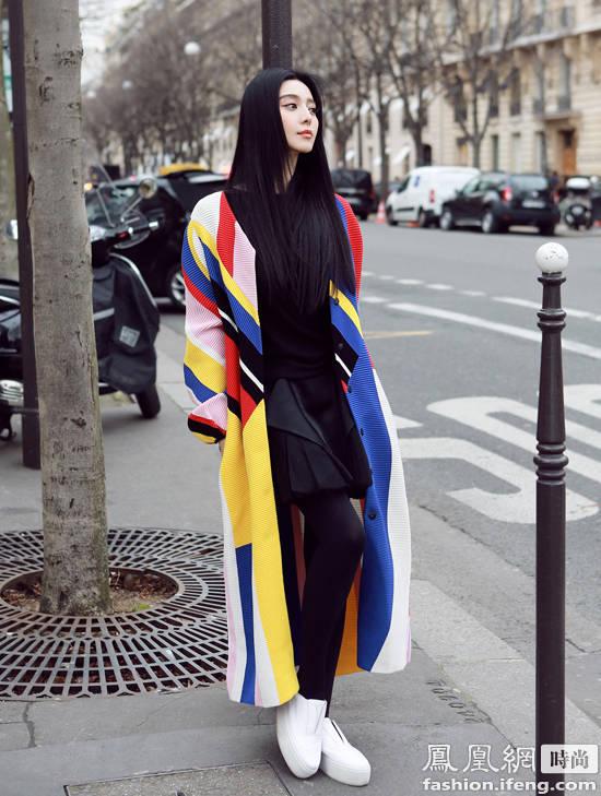 范冰冰出现在巴黎街头 如果你足够幸运可以遇到