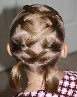 女孩扎头发教程 各种小女孩头发造型 减龄萌萌哒