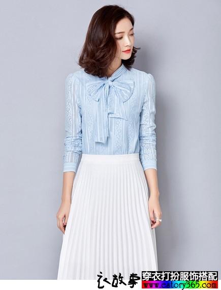 春天新风潮,衬衣搭配百褶裙