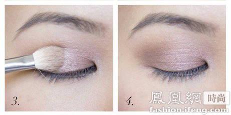 渐变妆容的纯色眼影化妆