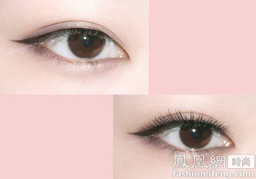 学学杨幂的眼妆 显大眼
