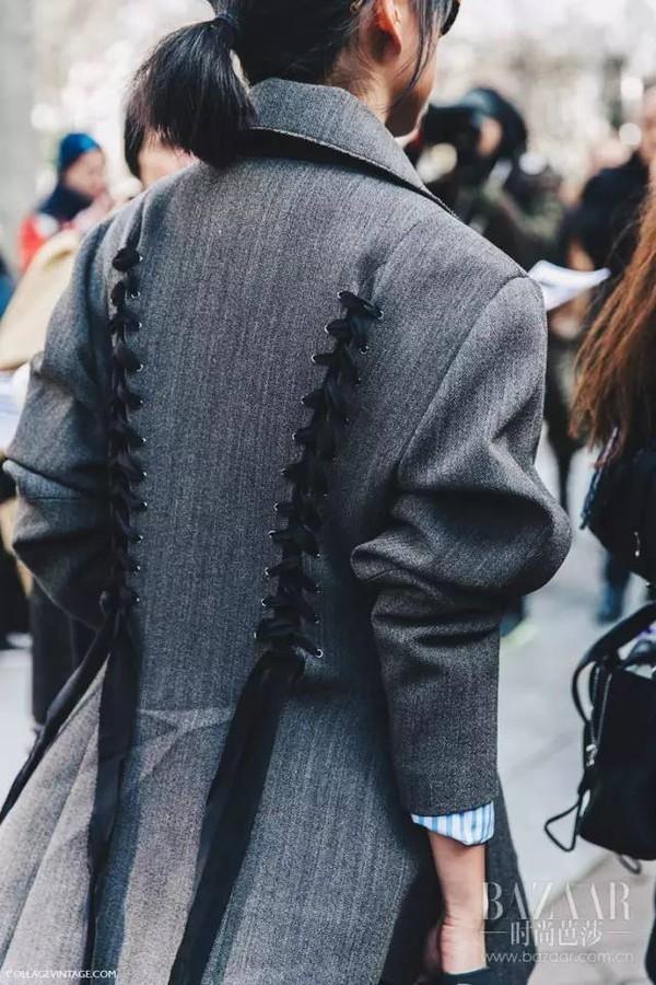 我的天哪,原来衣服上加条飘带竟然这么美!
