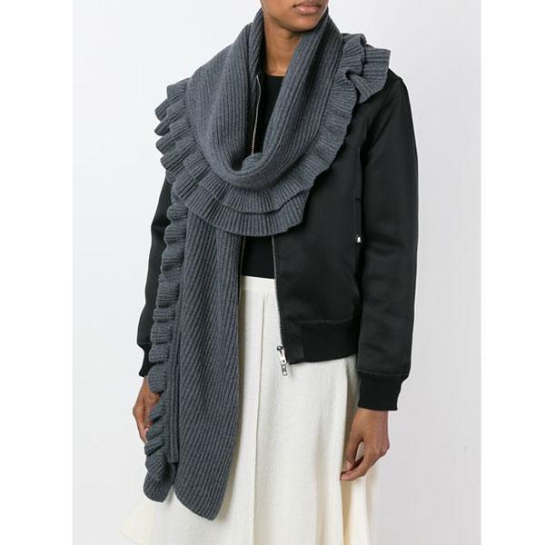 什么外套配什么围巾,保暖也讲套路